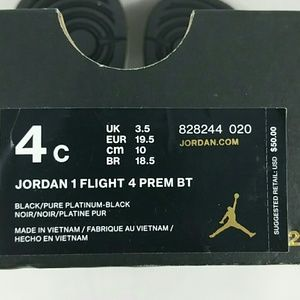 wholesale dealer 9007b a03a3 Nike Shoes - Infant s Jordan 1 Flight 4 Premium BT